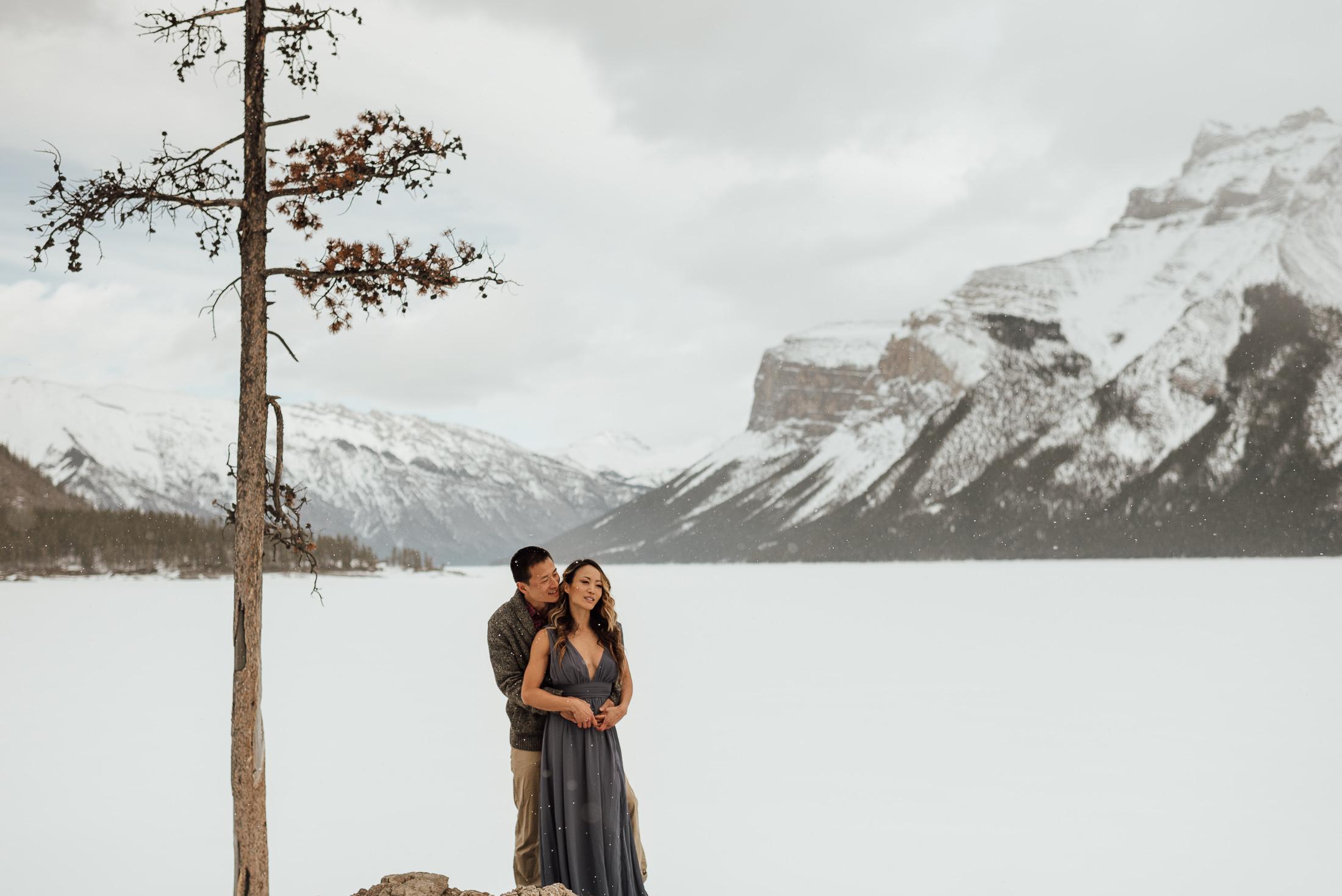 Lake Minnewanka Couple Session
