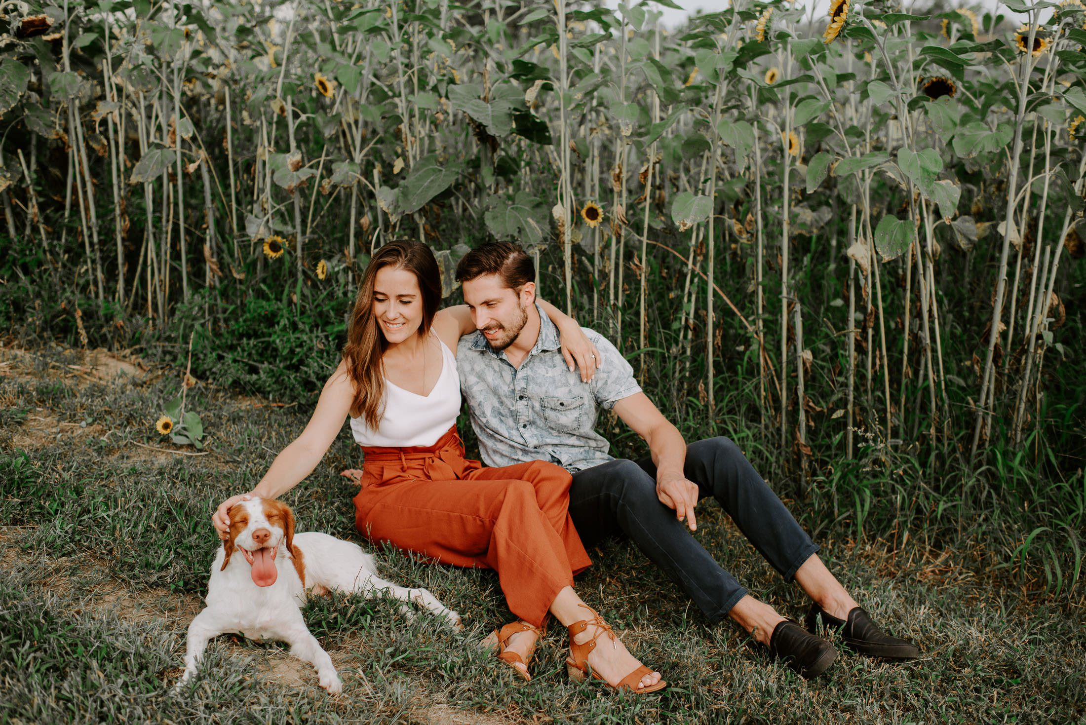 Couple and a dog