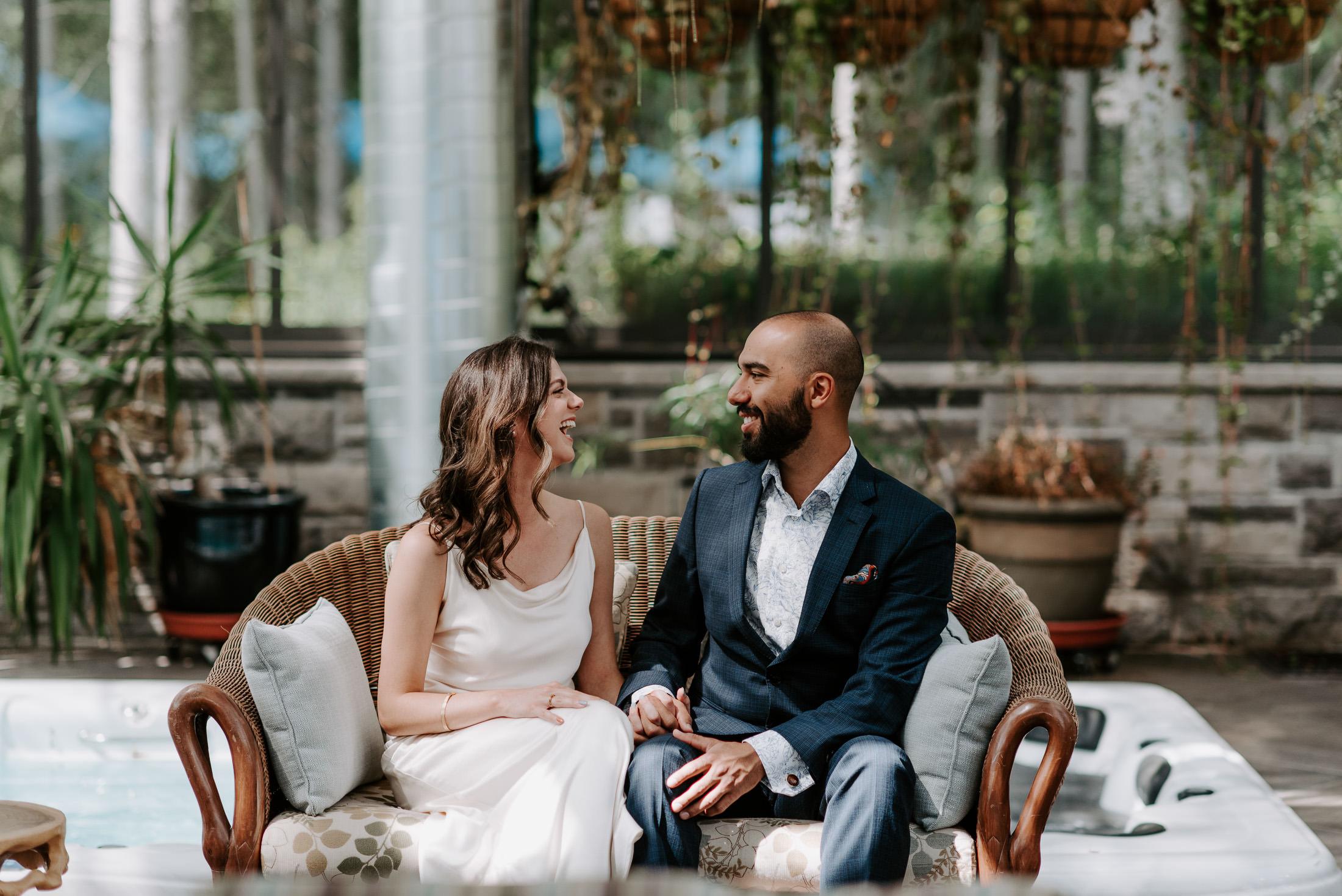 Boho Style Wedding Couple