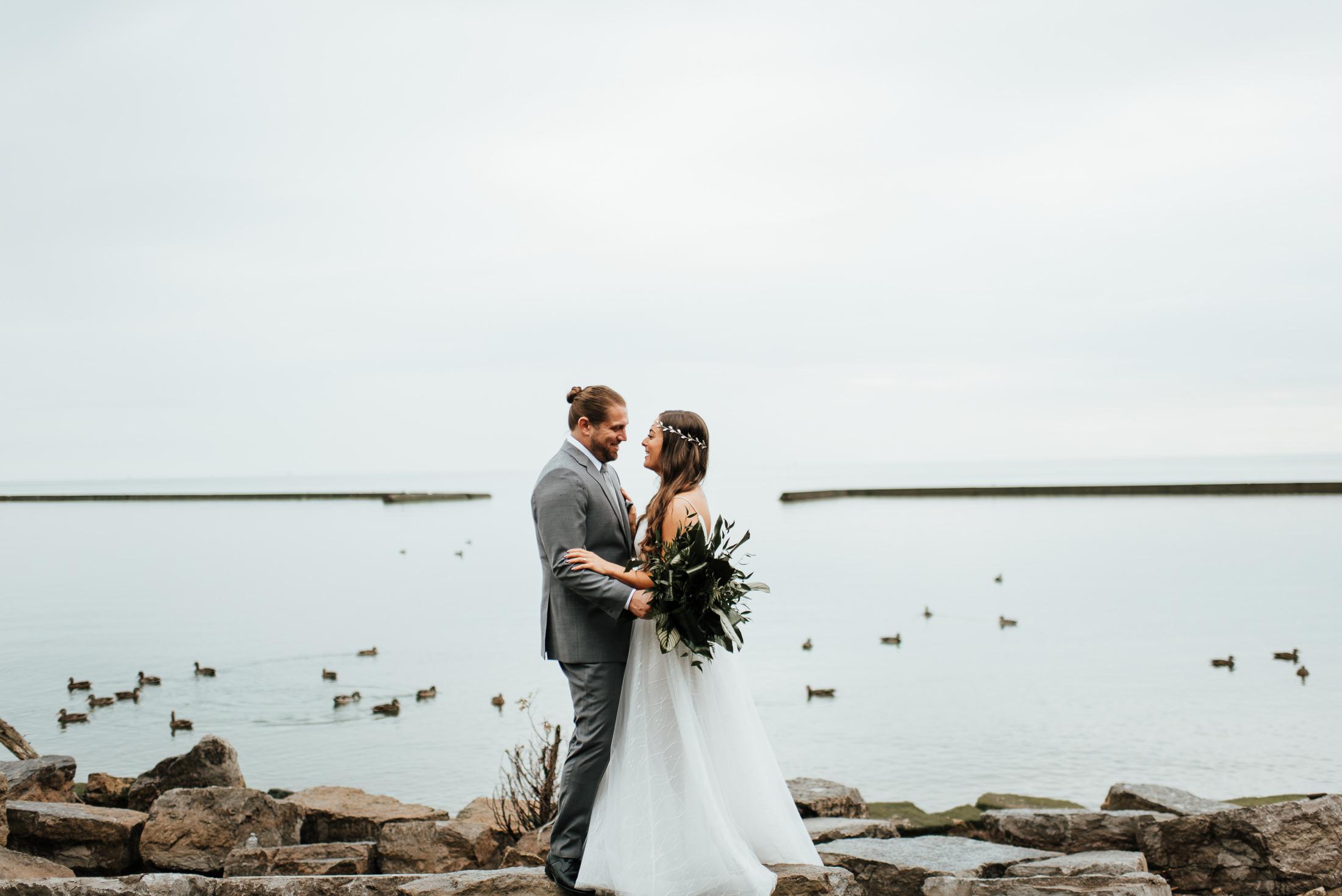 Wedding by the lake ontario